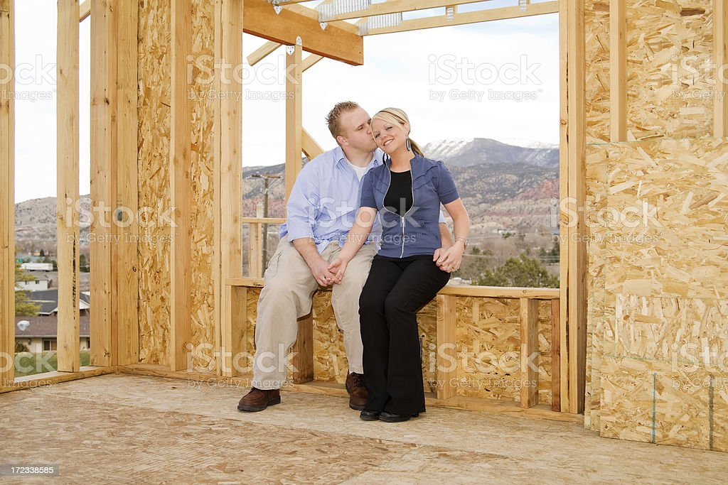 Newlyweds in New Home royalty-free stock photo