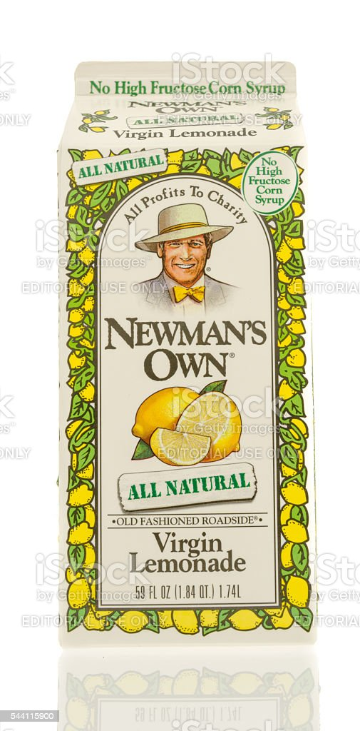 Newman's Own Lemonade stock photo