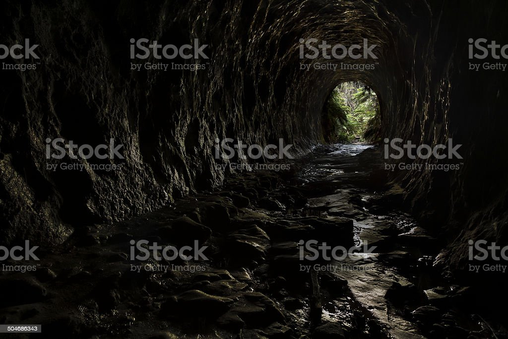 Newnes Tunnel stock photo