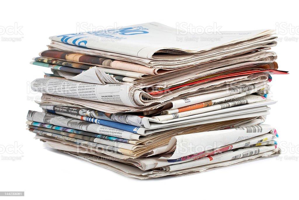 Newpapers stock photo
