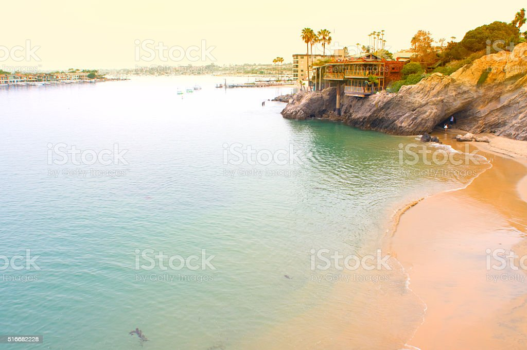 Newport Bay Balboa Island stock photo