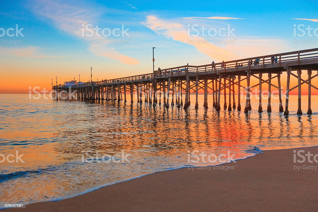 Newport Beach Balboa Pier, RTE 1,Orange County California stock photo