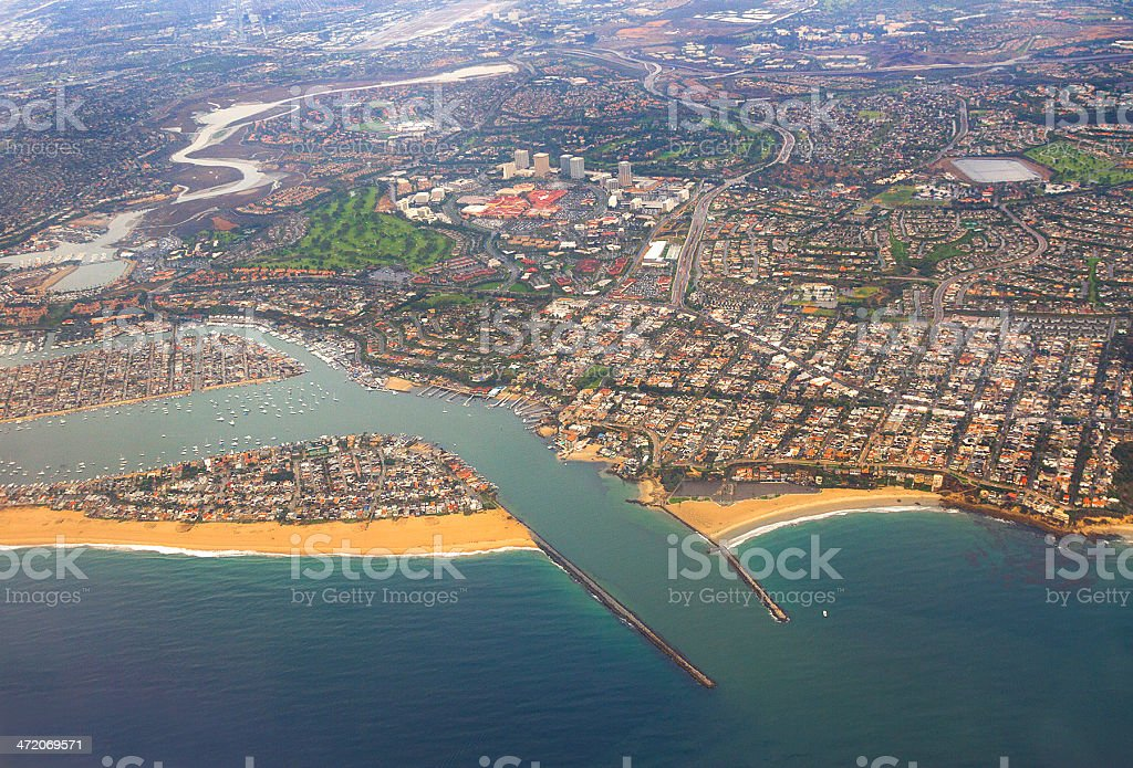 Newport Beach Harbor stock photo