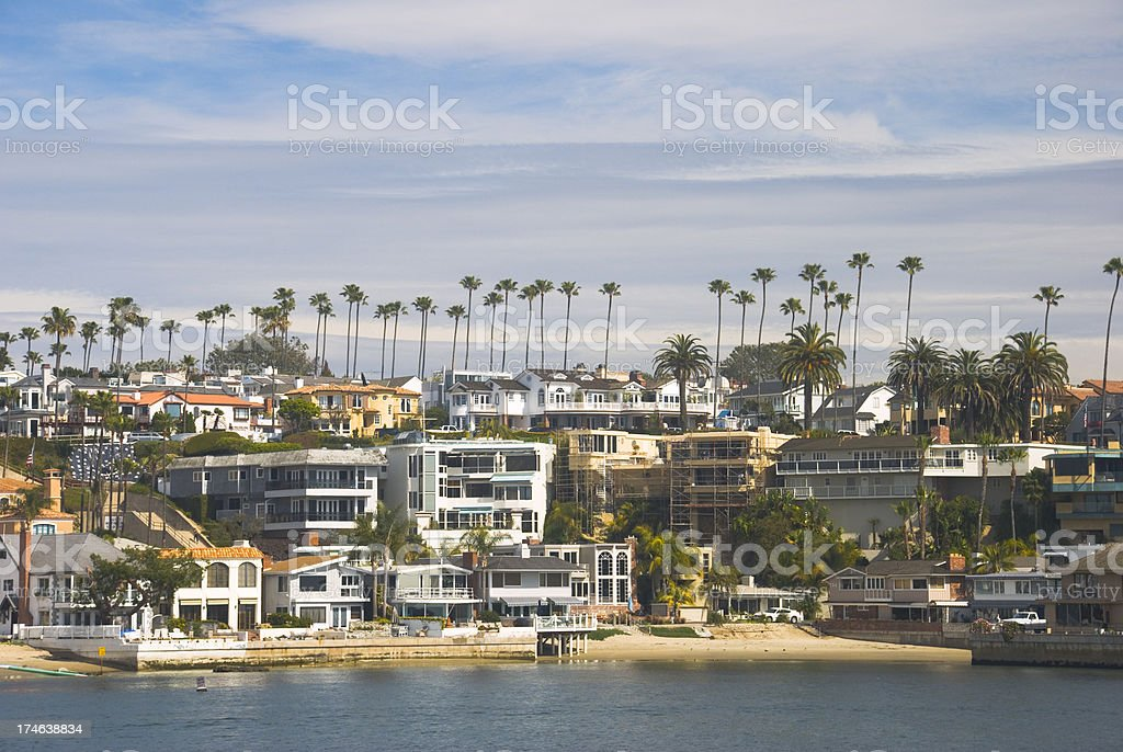 Newport Beach houses royalty-free stock photo