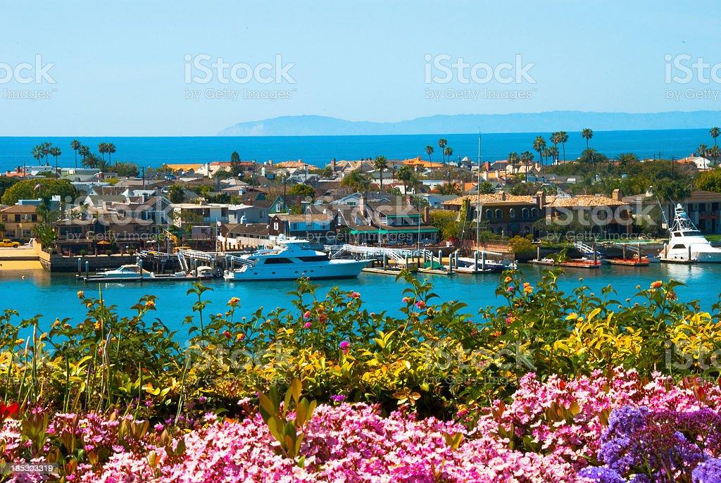 Newport Beach Scene royalty-free stock photo