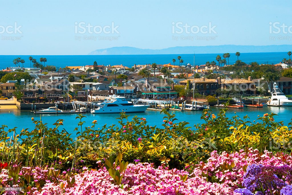 Newport Beach Scene stock photo