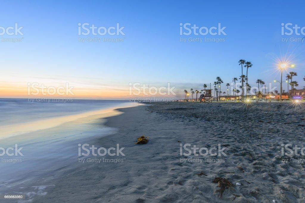 Newport Beach Sunset stock photo