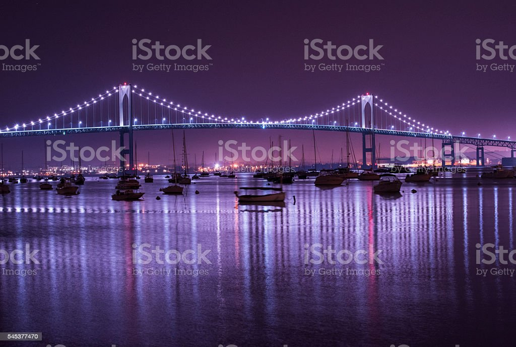 Newport Bridge in Rhode Island stock photo