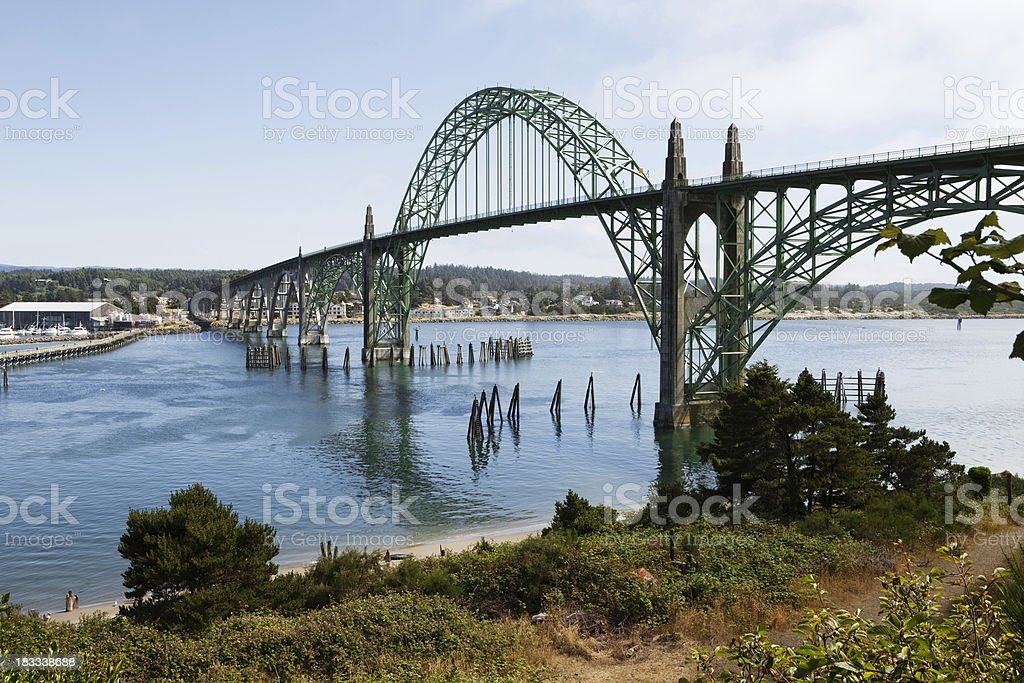 newport bridge stock photo