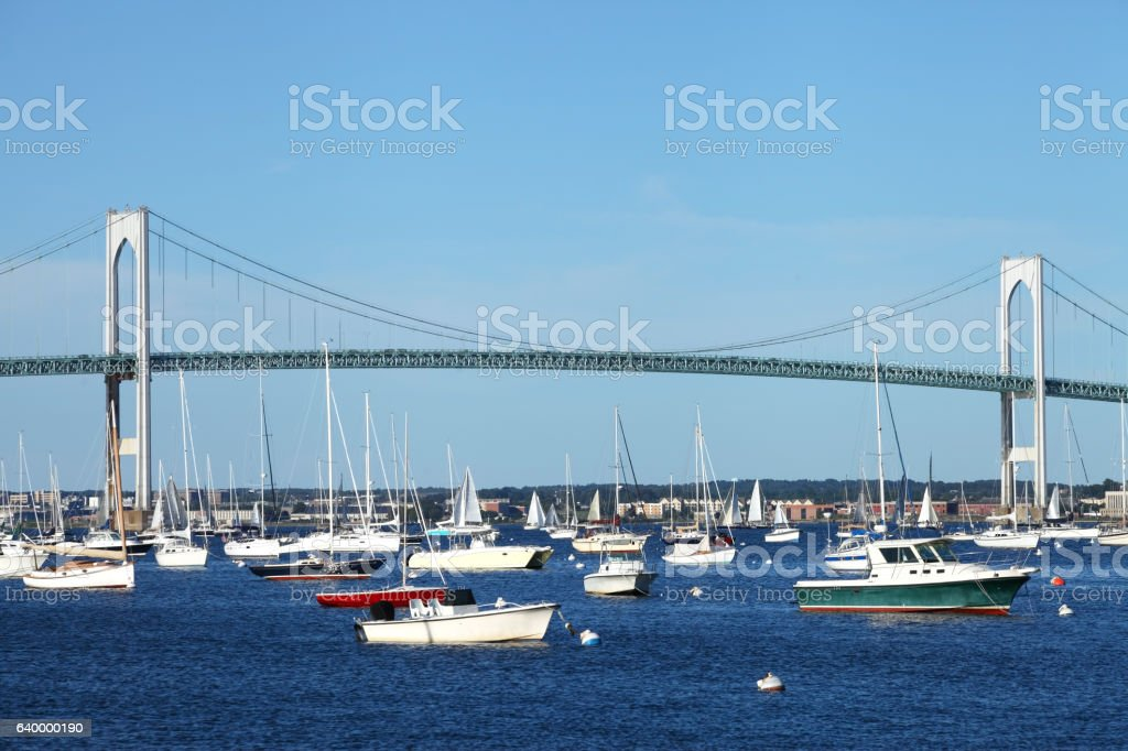 Newport Bridge stock photo