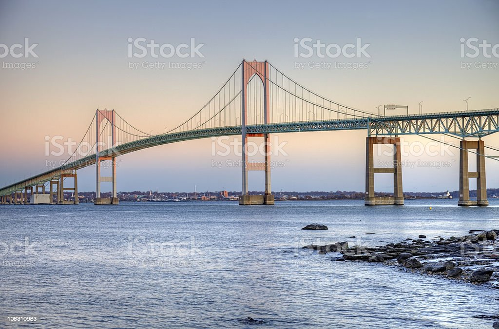 Newport Bridge Rhode Island stock photo
