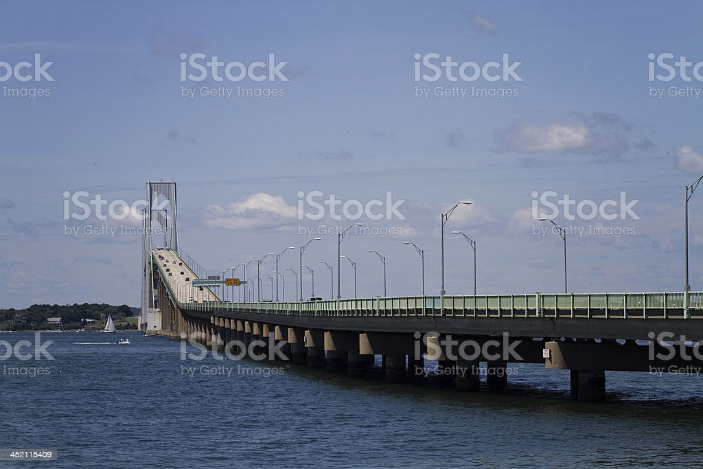 Newport Bridge, Rhode Island stock photo