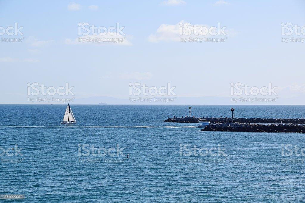 Newport Channel stock photo