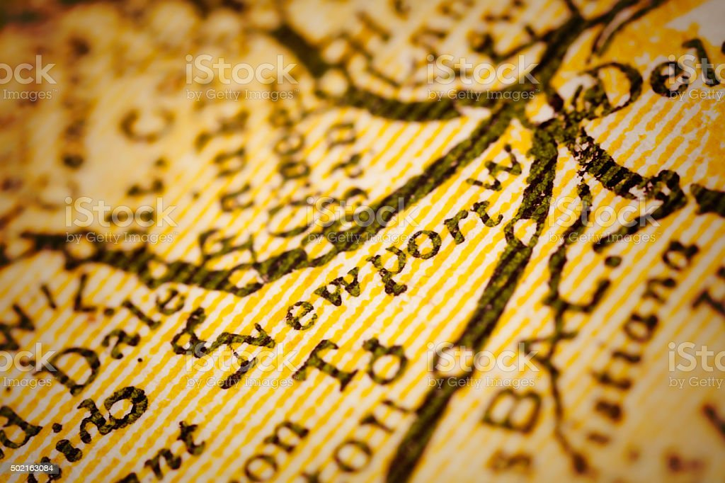 Newport, Delaware on an Antique map stock photo