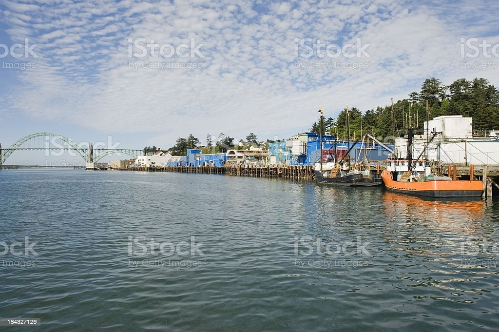 Newport Harbor stock photo