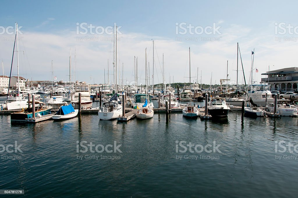 Newport Harbor - Rhode Island - USA stock photo