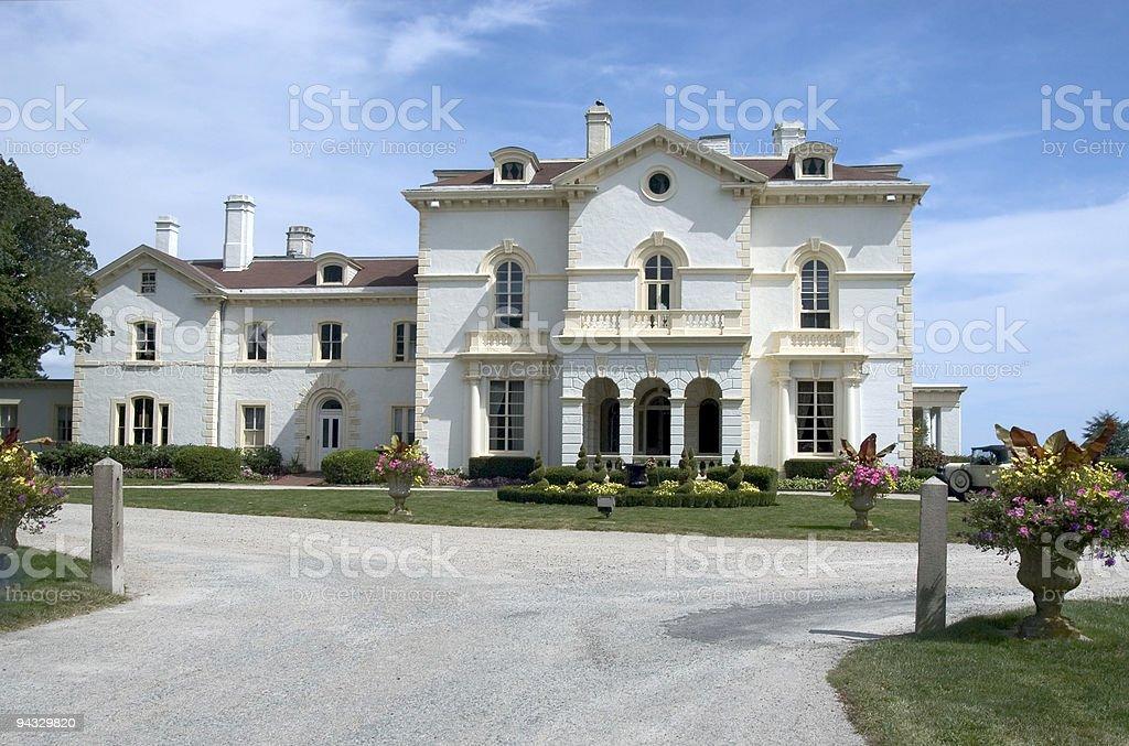 Newport Mansion stock photo