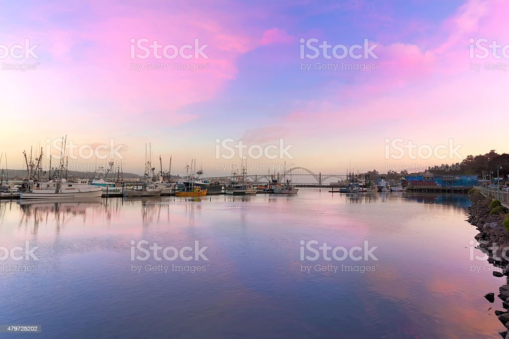 Newport Oregon Sunset stock photo
