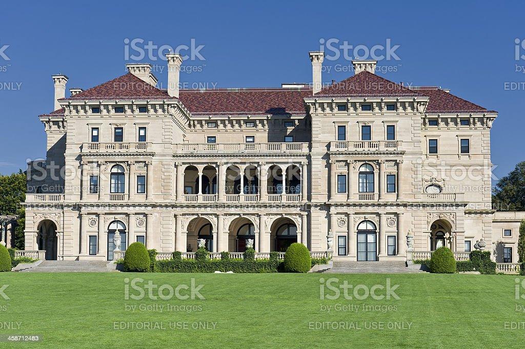 Newport Rhode Island Mansion stock photo