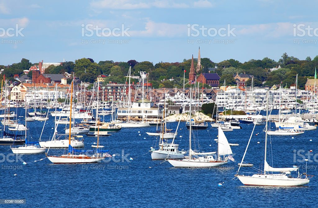 Newport Rhode Island stock photo