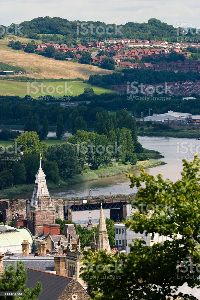 Newport South Wales stock photo