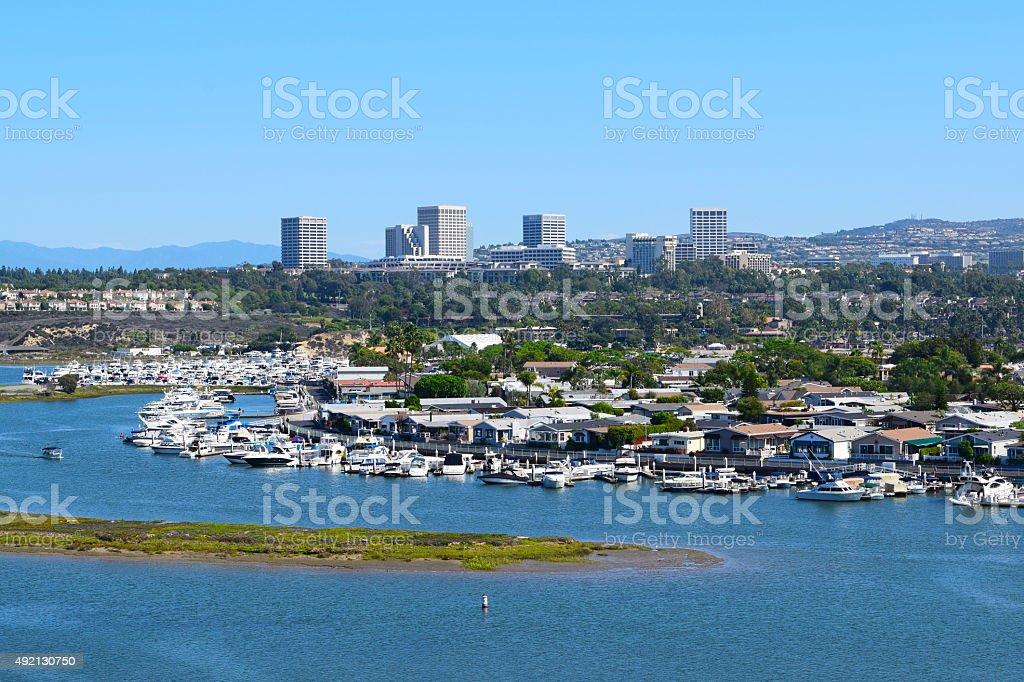 Newport (Back Bay), Southern California stock photo