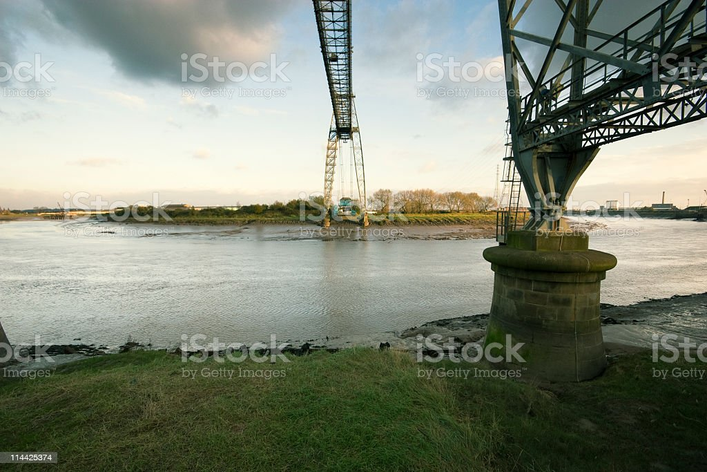 Newport Transporter Bridge Landmark stock photo