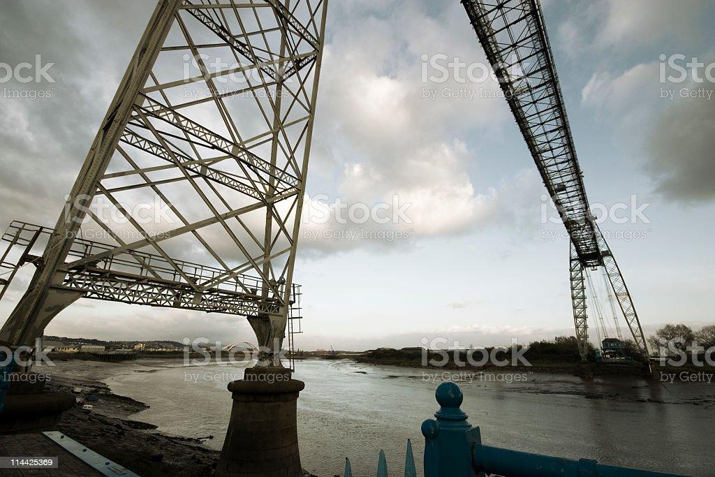 Newport Transporter Bridge stock photo