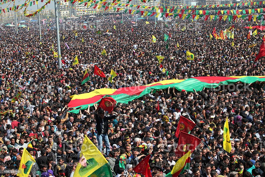 Newroz in Diyarbakir,Turkey. stock photo