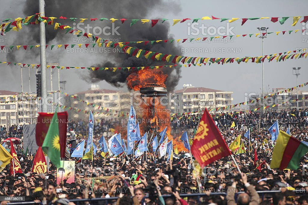Newroz in Turkey. stock photo
