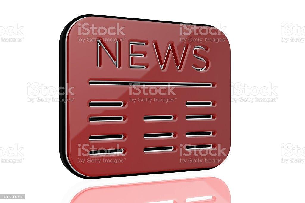 News 3D stock photo