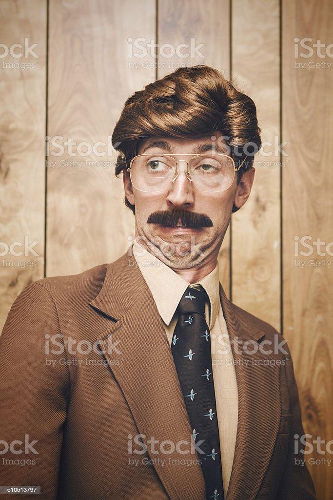 News Anchor Man Retro stock photo