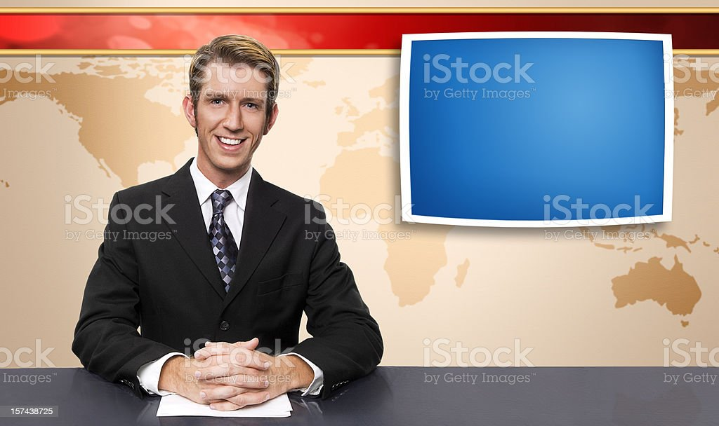 News Anchor stock photo