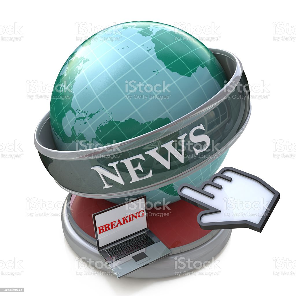 News and press concept: Breaking news, Latest world news stock photo