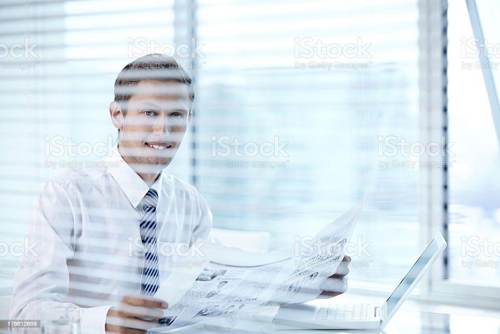 News at workplace royalty-free stock photo