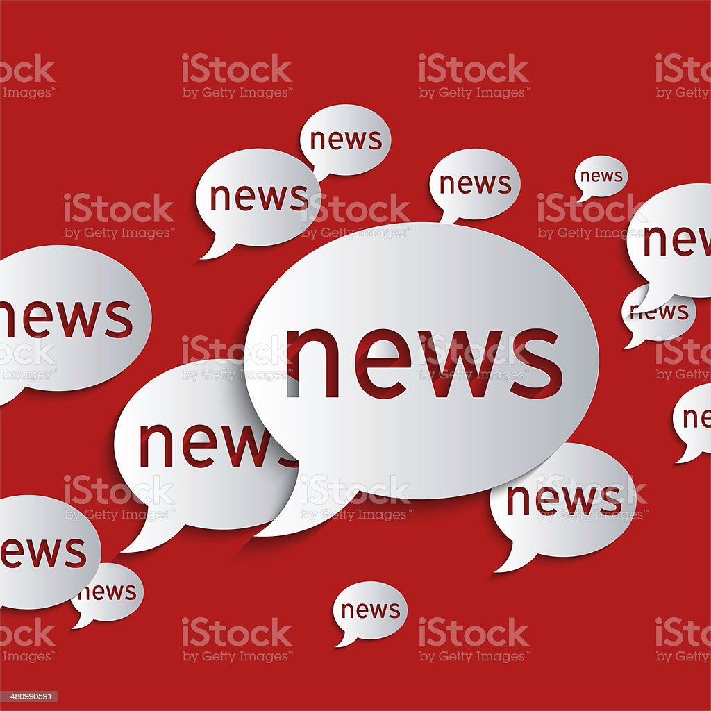 News balloons stock photo