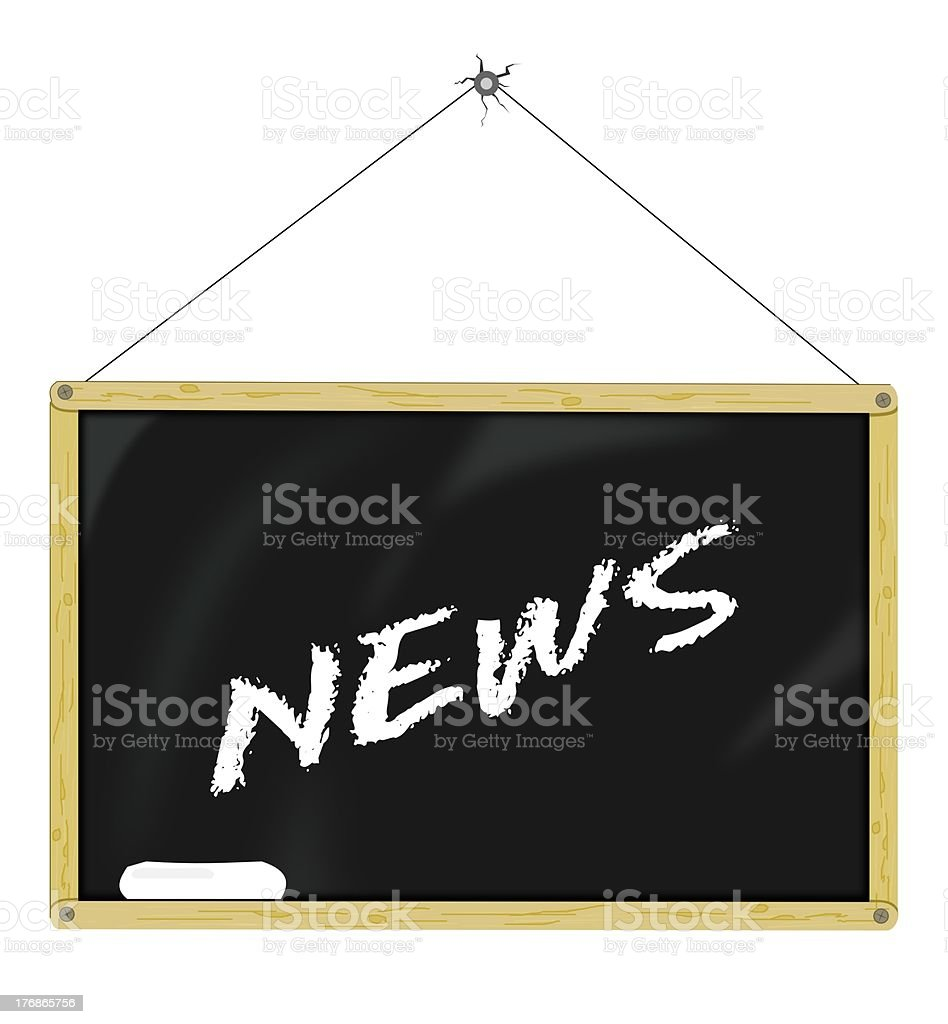 News Board stock photo