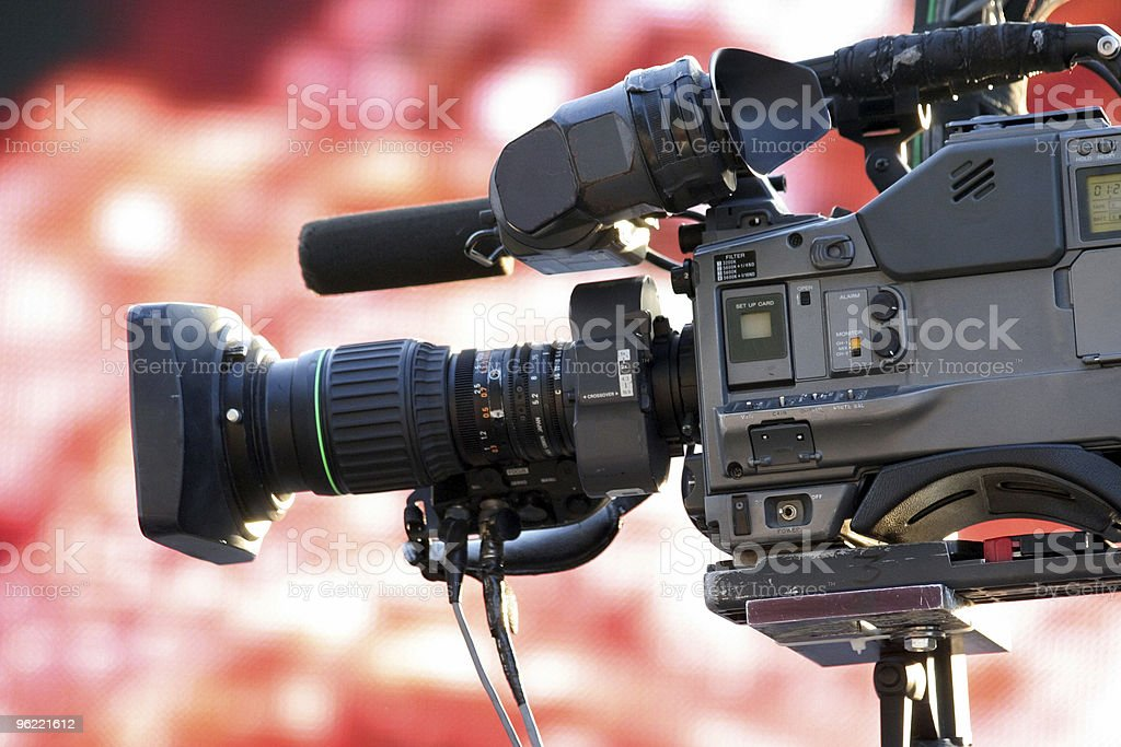 news broadcasting stock photo