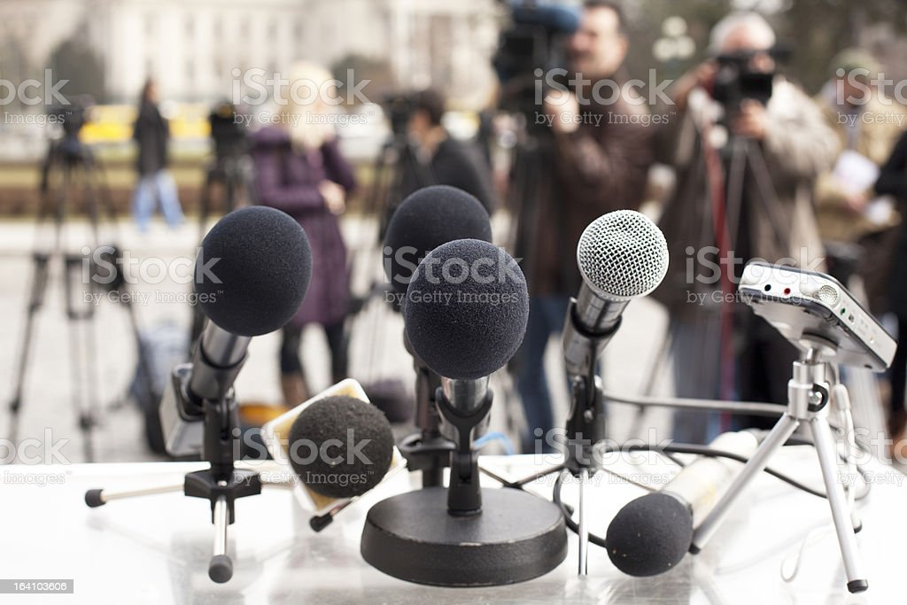 News conference royalty-free stock photo