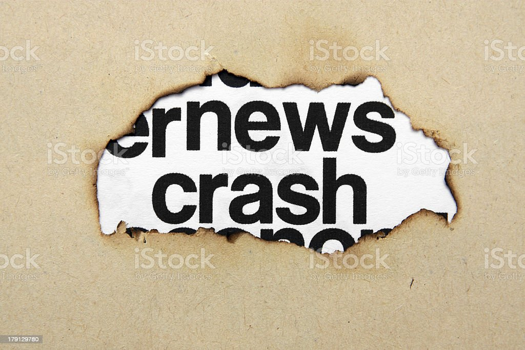 News crash concept royalty-free stock photo