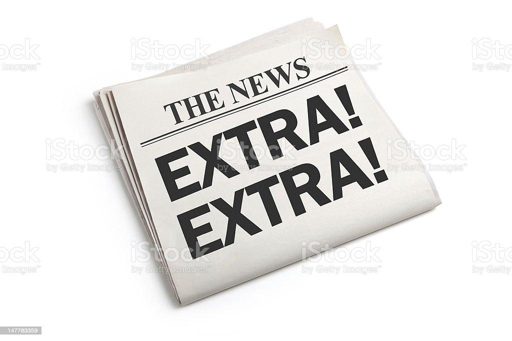 News Extra stock photo