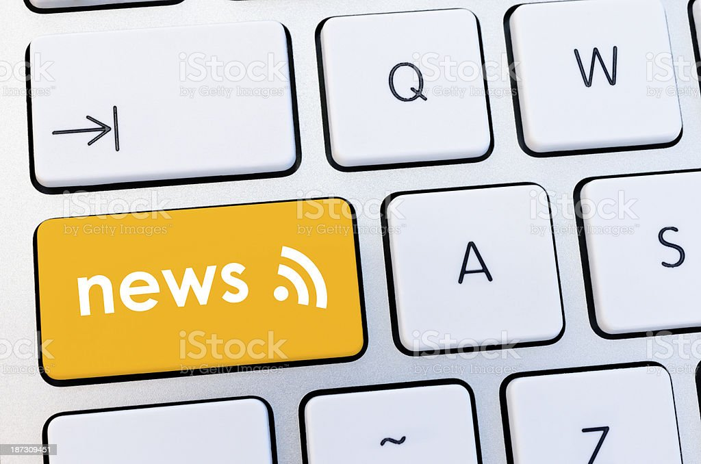 RSS news feed button royalty-free stock photo