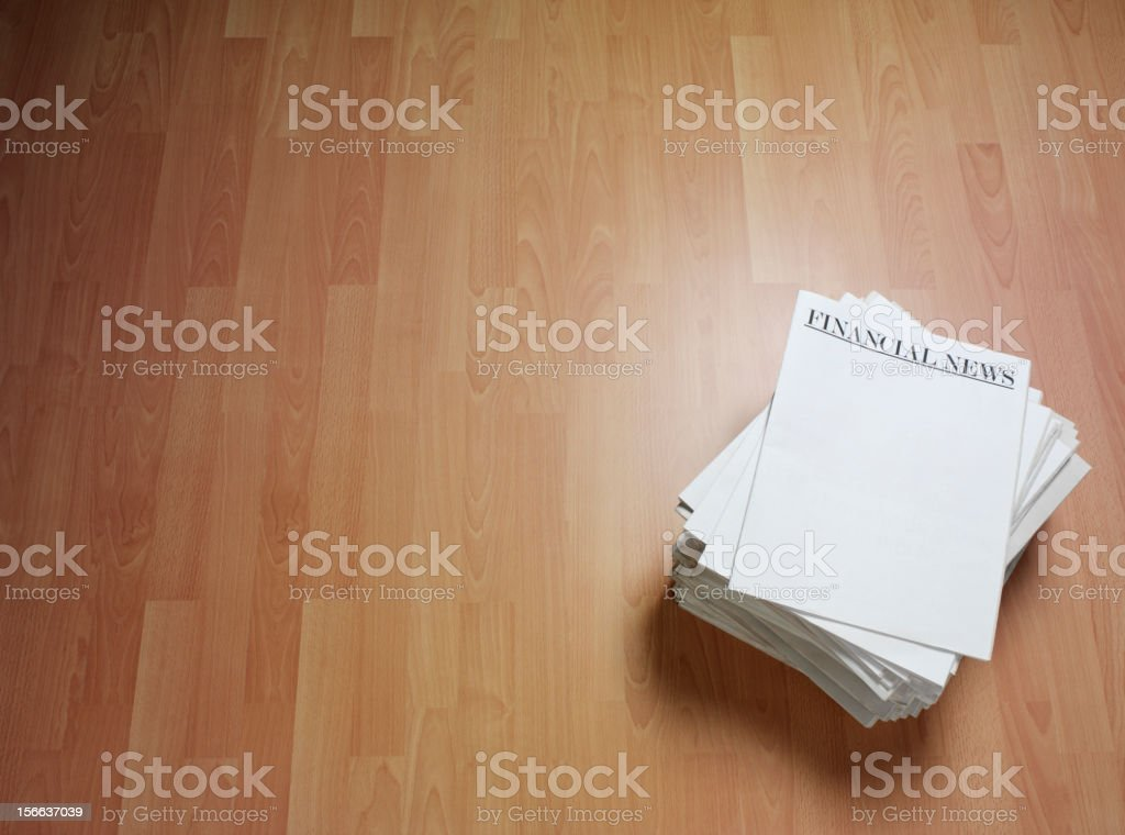 News for Finance on a Newspaper Headline royalty-free stock photo