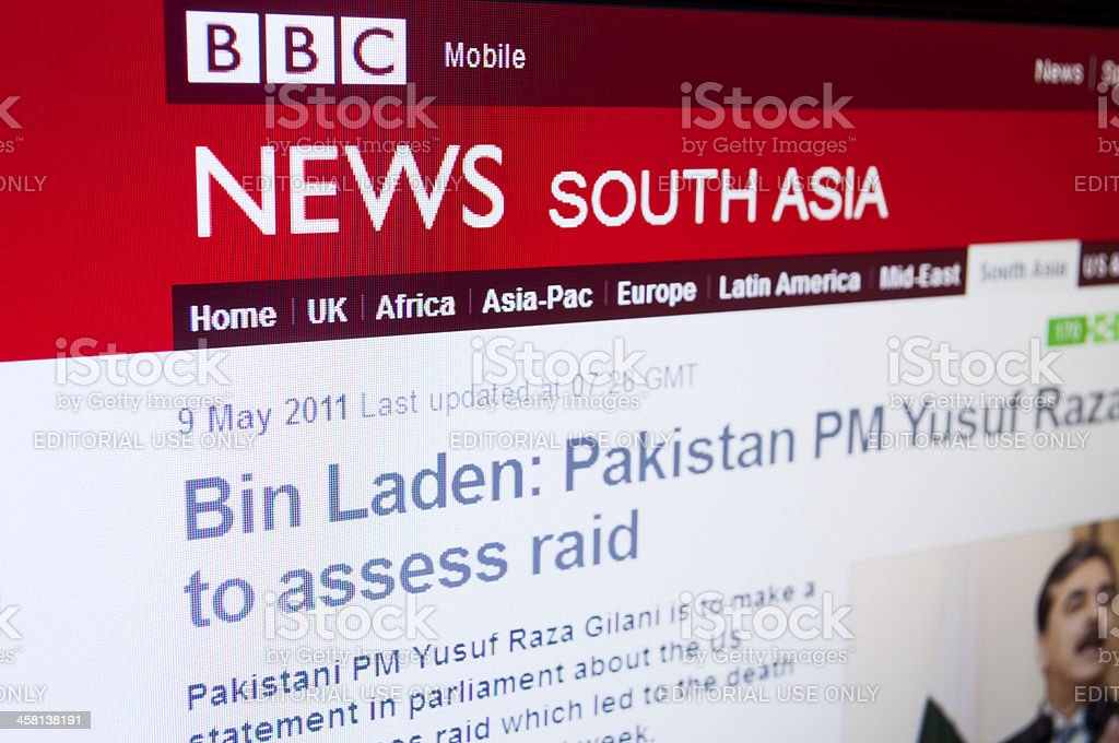 News from south Asia about Bin Laden royalty-free stock photo