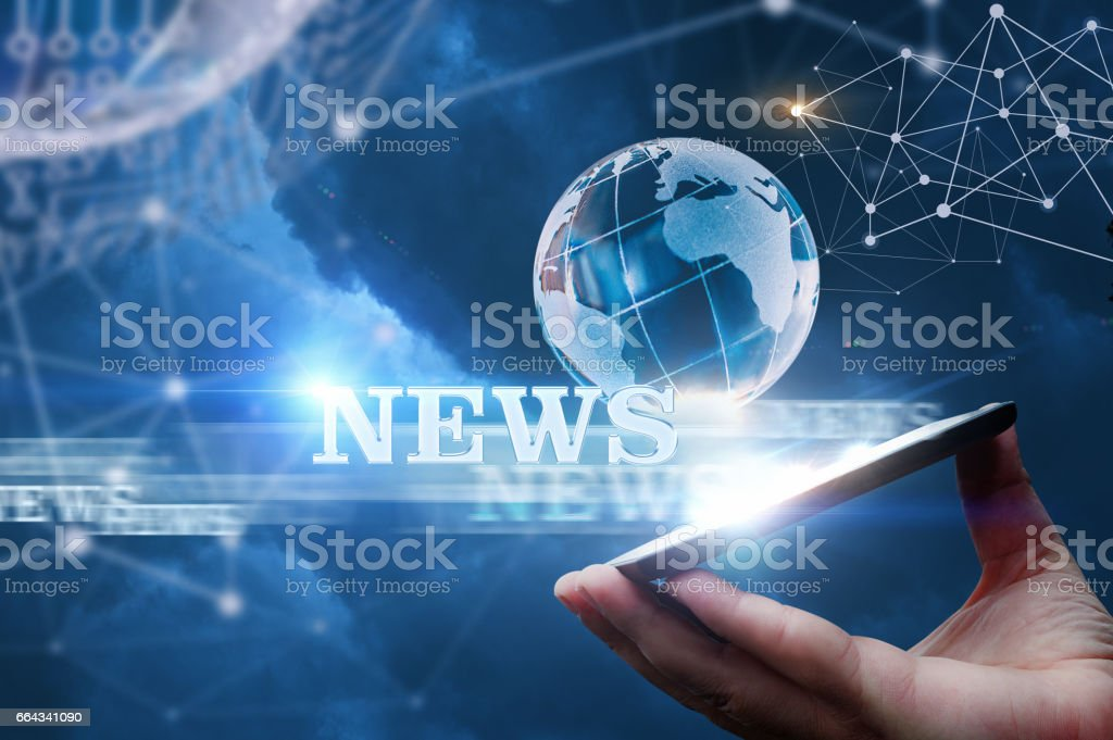 News from the network from . stock photo