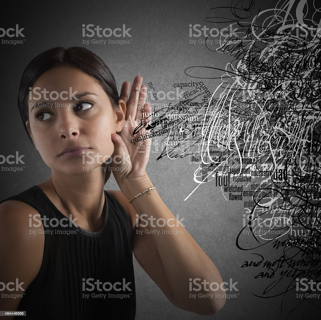 News in disorder stock photo