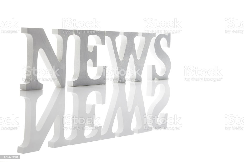 News In Standing Letters royalty-free stock photo