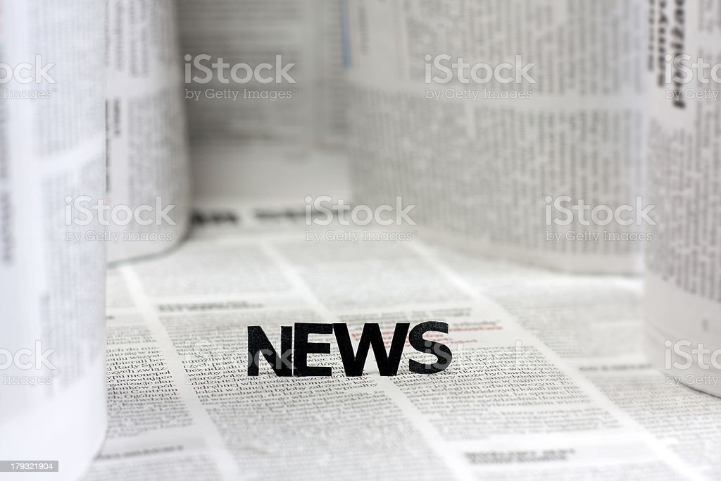 News letters on newspapers with blurred background royalty-free stock photo