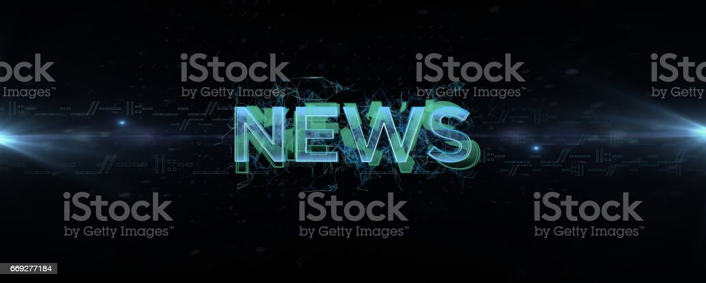 news logo stock photo