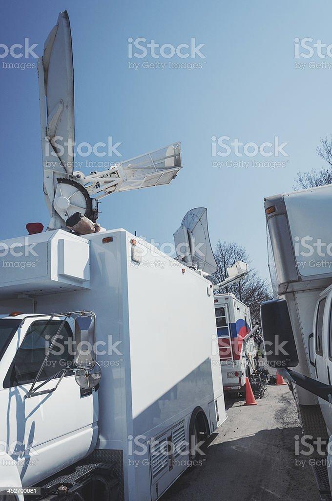 News Media Broadast Trucks stock photo